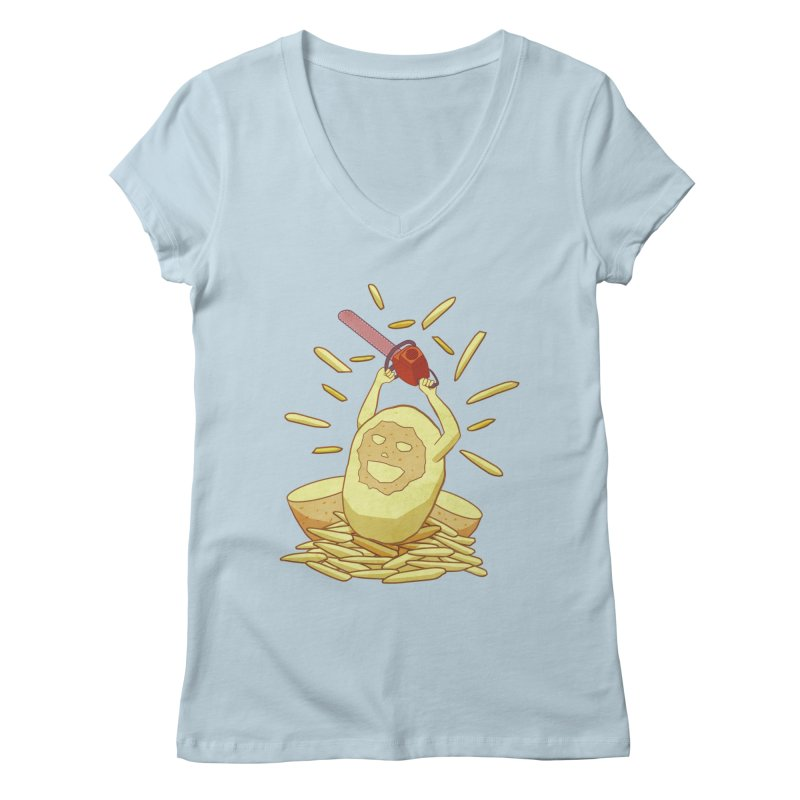 Extra Fries Women's V-Neck by jussikarro's Artist Shop