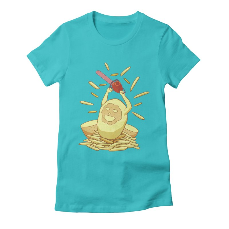 Extra Fries Women's Fitted T-Shirt by jussikarro's Artist Shop