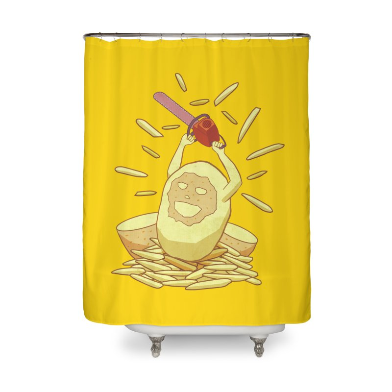 Extra Fries Home Shower Curtain by jussikarro's Artist Shop