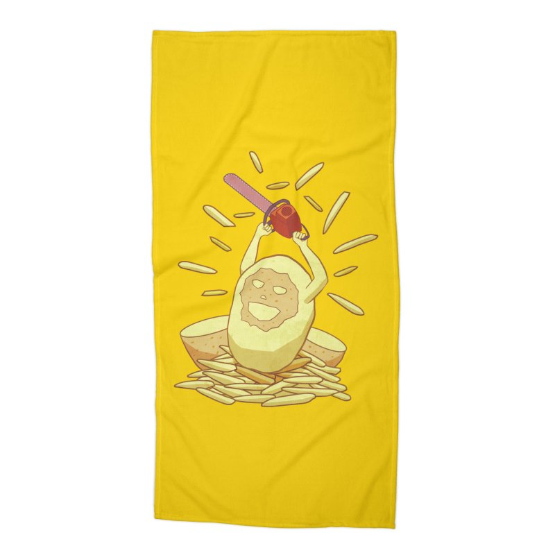 Extra Fries Accessories Beach Towel by jussikarro's Artist Shop