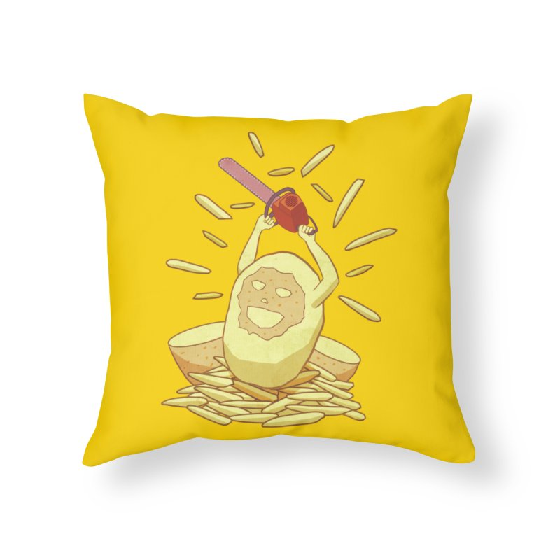 Extra Fries Home Throw Pillow by jussikarro's Artist Shop