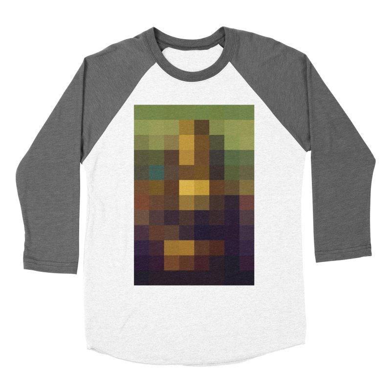 Pixel Art Men's Baseball Triblend T-Shirt by jussikarro's Artist Shop