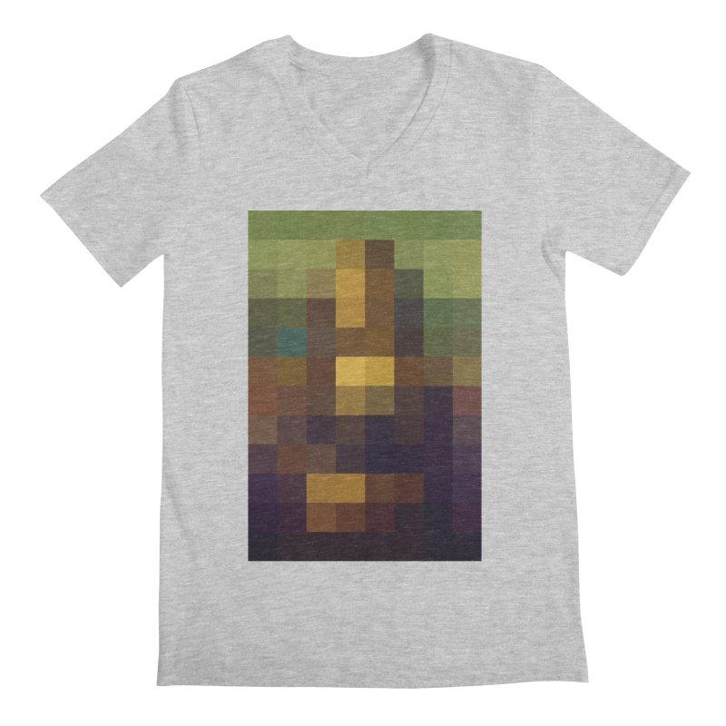 Pixel Art Men's V-Neck by jussikarro's Artist Shop