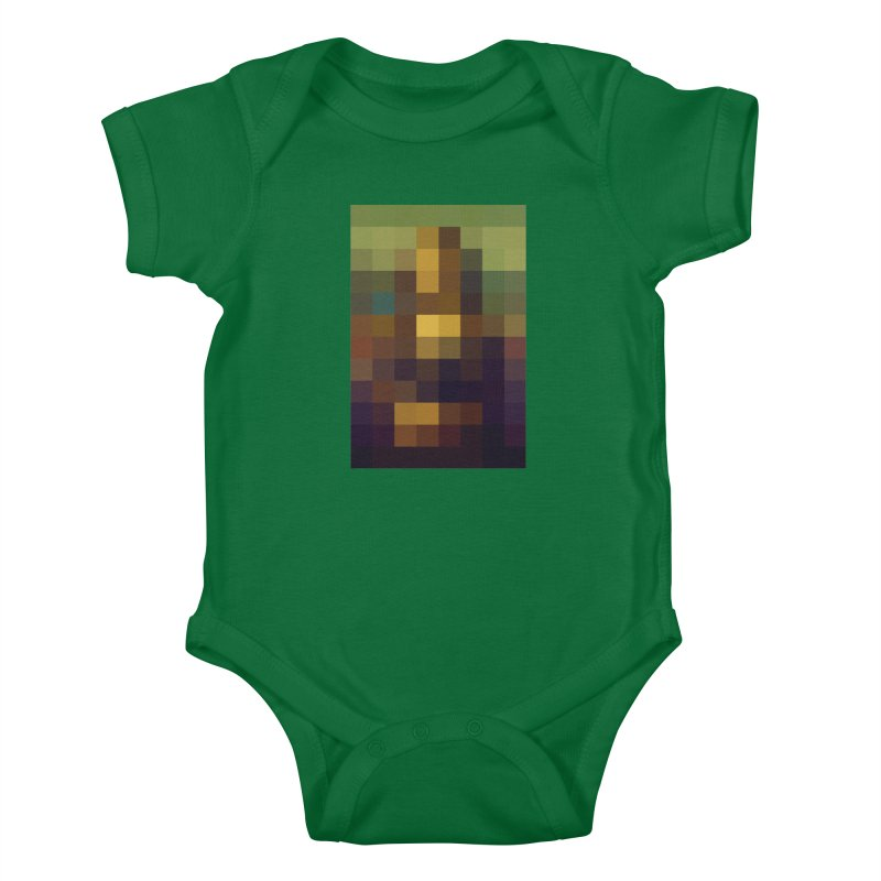 Pixel Art Kids Baby Bodysuit by jussikarro's Artist Shop
