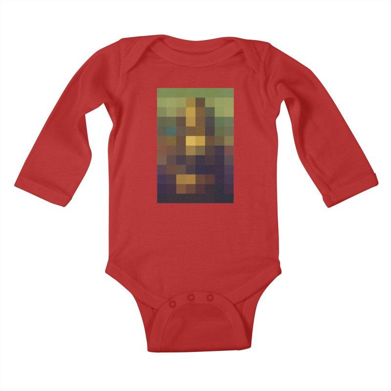 Pixel Art Kids Baby Longsleeve Bodysuit by jussikarro's Artist Shop