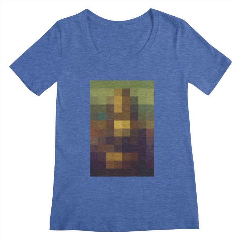 Pixel Art Women's Scoopneck by jussikarro's Artist Shop