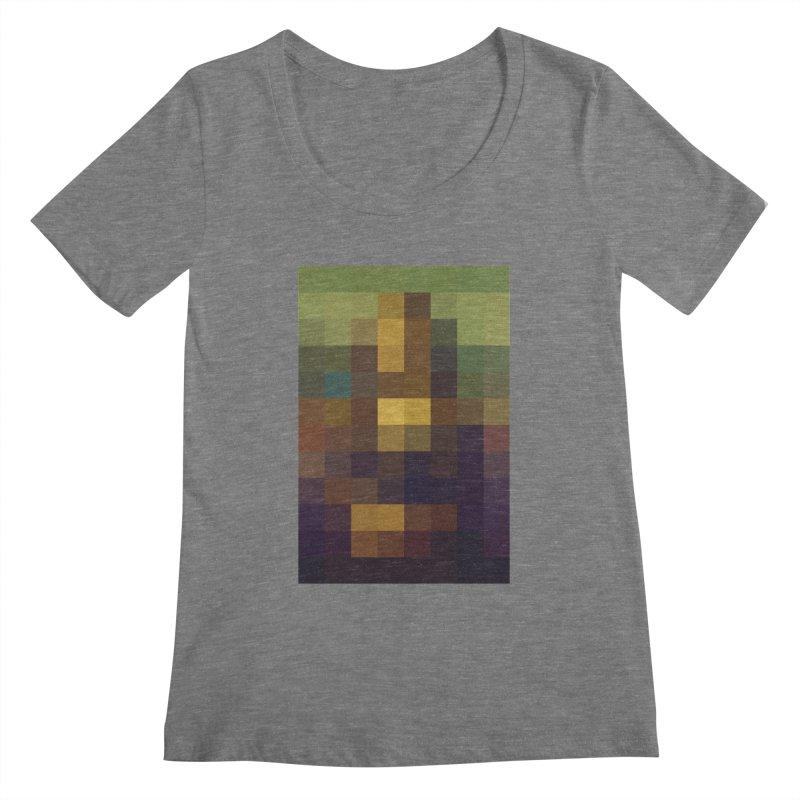 Pixel Art Women's Scoopneck by jussikarro's Artist Shop