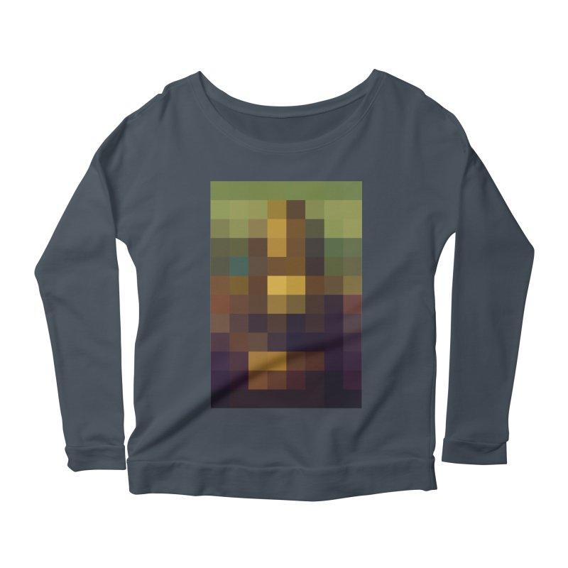 Pixel Art Women's Longsleeve Scoopneck  by jussikarro's Artist Shop