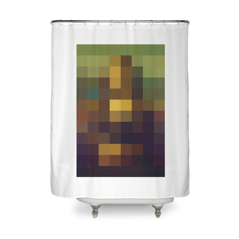 Pixel Art Home Shower Curtain by jussikarro's Artist Shop