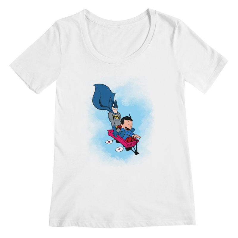 Super friends! Women's Scoopneck by jussikarro's Artist Shop