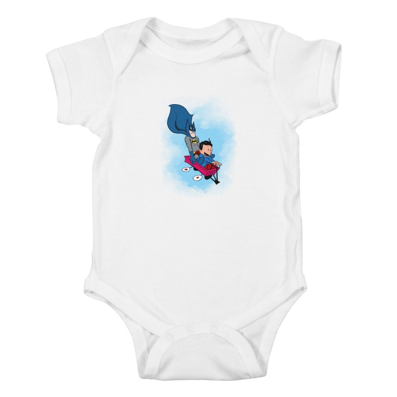 Super friends! Kids Baby Bodysuit by jussikarro's Artist Shop