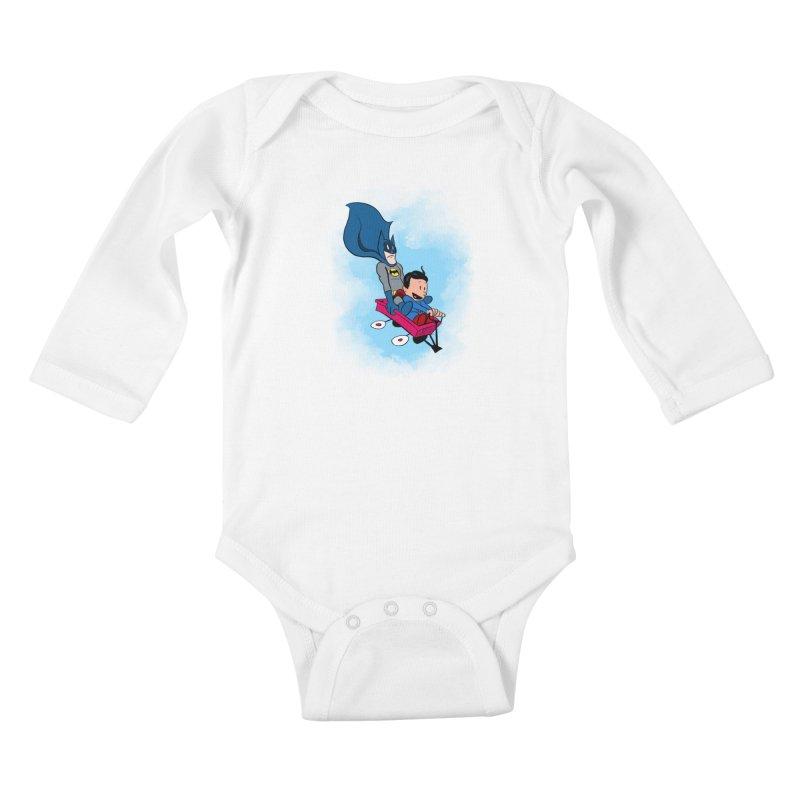 Super friends! Kids Baby Longsleeve Bodysuit by jussikarro's Artist Shop