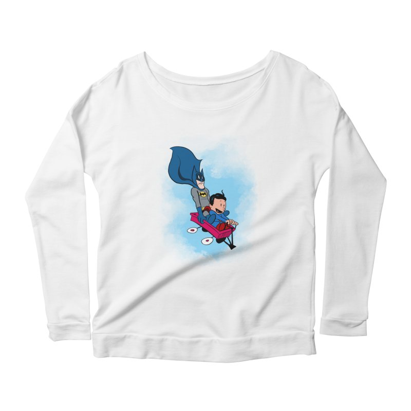 Super friends! Women's Longsleeve Scoopneck  by jussikarro's Artist Shop