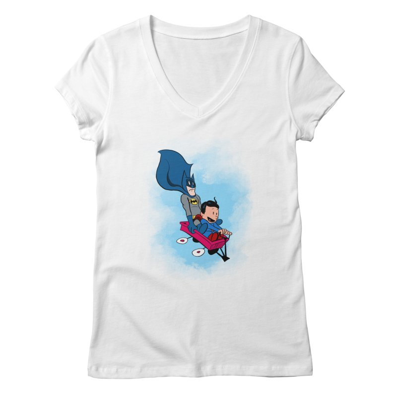 Super friends! Women's V-Neck by jussikarro's Artist Shop