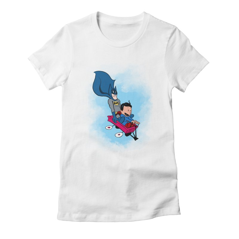 Super friends! Women's Fitted T-Shirt by jussikarro's Artist Shop