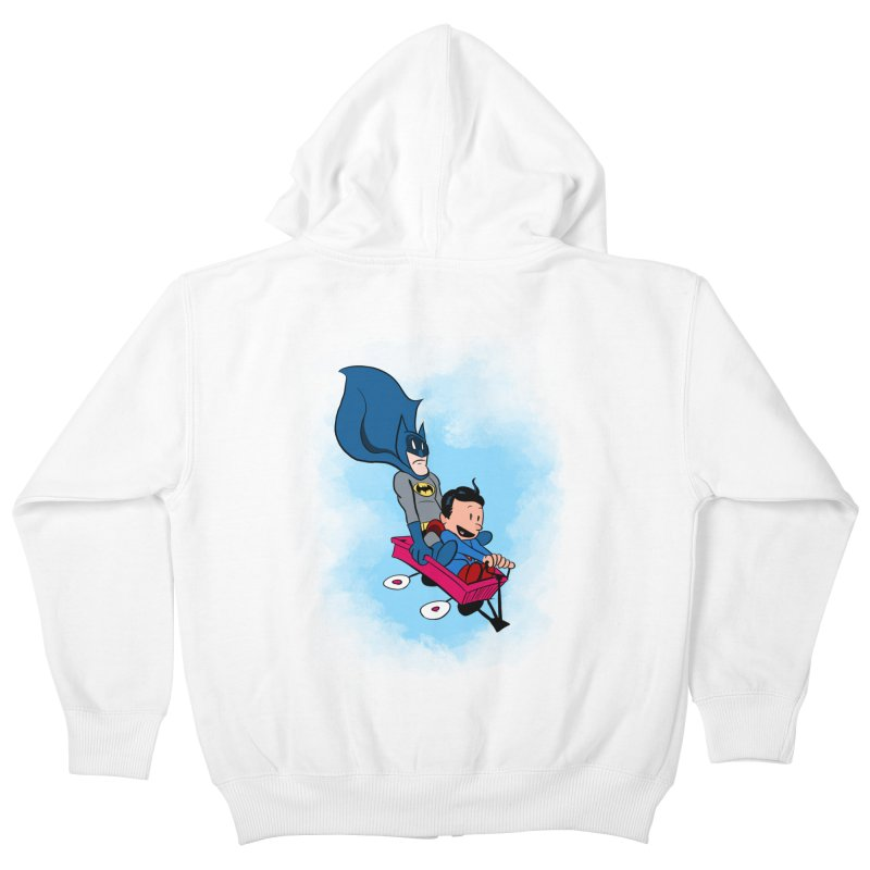 Super friends! Kids Zip-Up Hoody by jussikarro's Artist Shop
