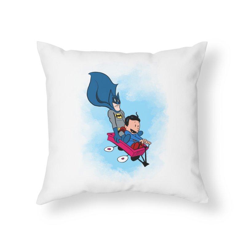 Super friends! Home Throw Pillow by jussikarro's Artist Shop