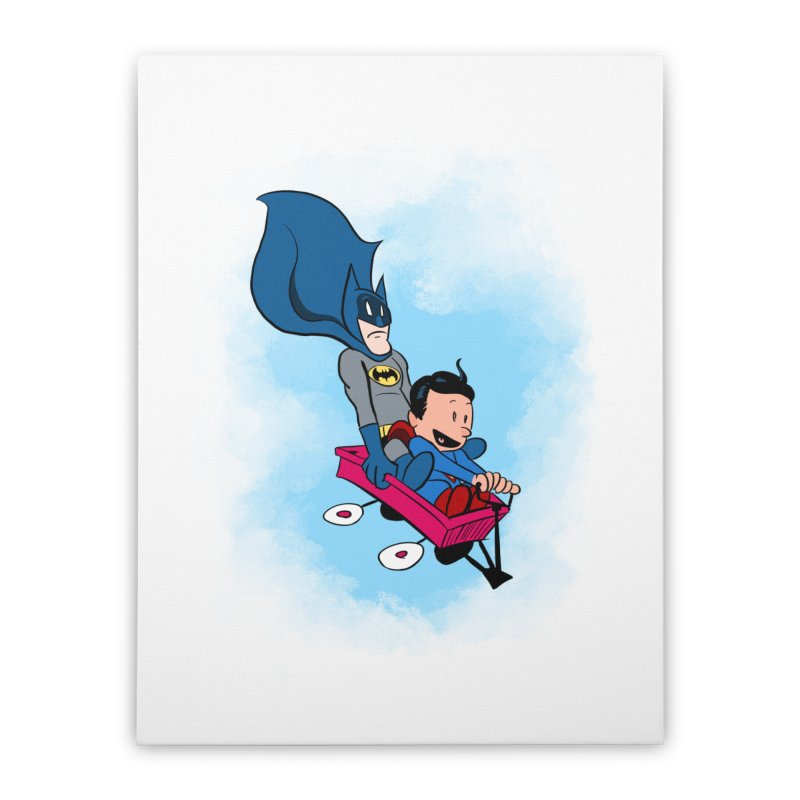 Super friends! Home Stretched Canvas by jussikarro's Artist Shop
