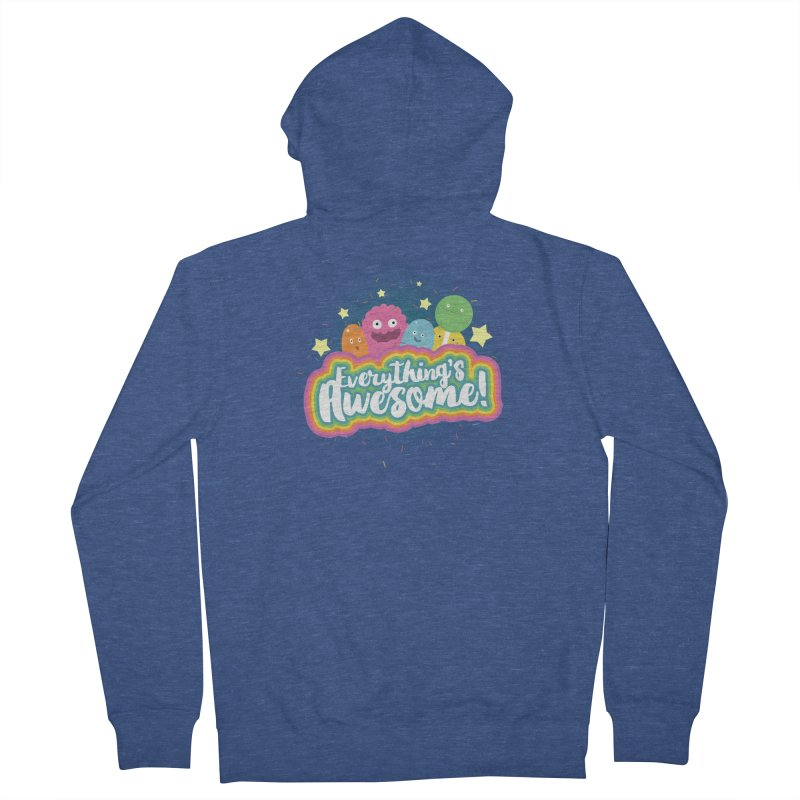 Everything's Awesome! Men's Zip-Up Hoody by jussikarro's Artist Shop
