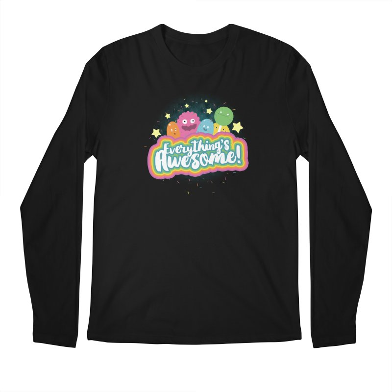 Everything's Awesome! Men's Longsleeve T-Shirt by jussikarro's Artist Shop
