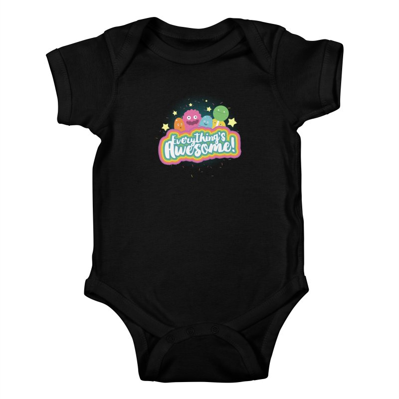 Everything's Awesome! Kids Baby Bodysuit by jussikarro's Artist Shop
