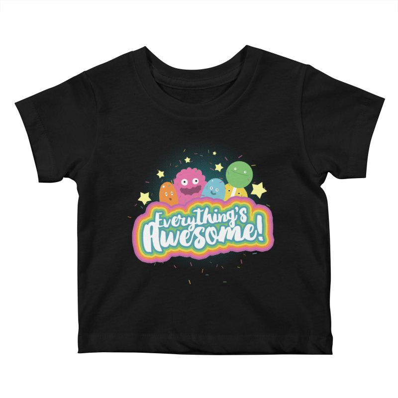 Everything's Awesome! Kids Baby T-Shirt by jussikarro's Artist Shop