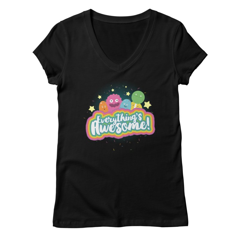 Everything's Awesome! Women's V-Neck by jussikarro's Artist Shop