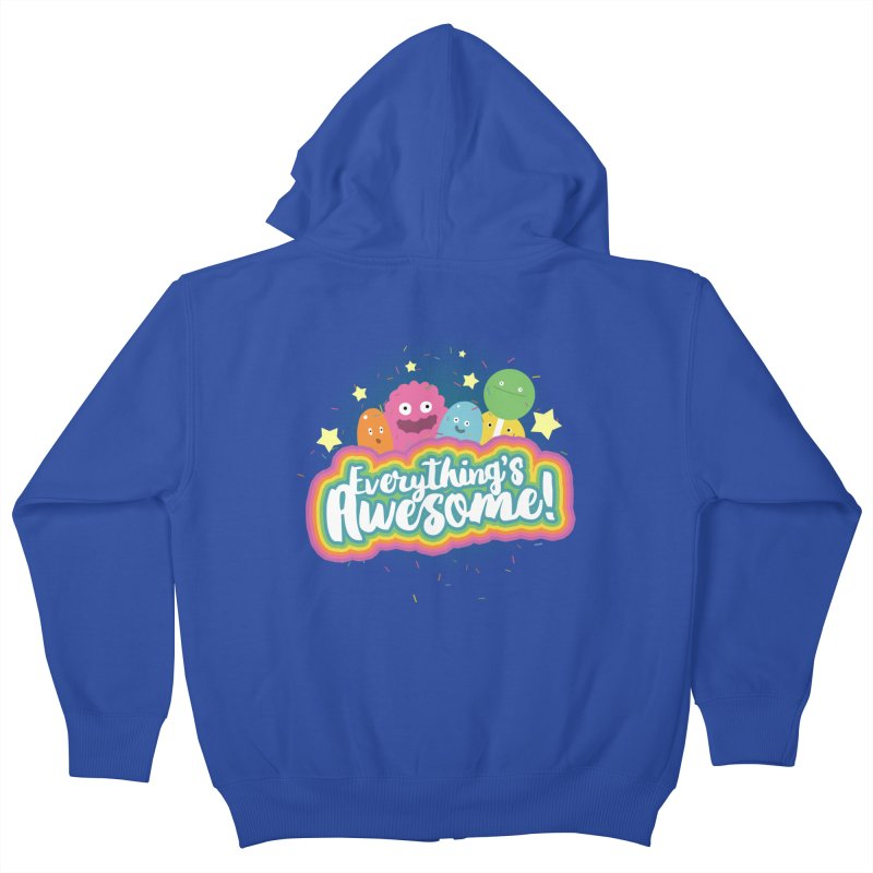 Everything's Awesome! Kids Zip-Up Hoody by jussikarro's Artist Shop