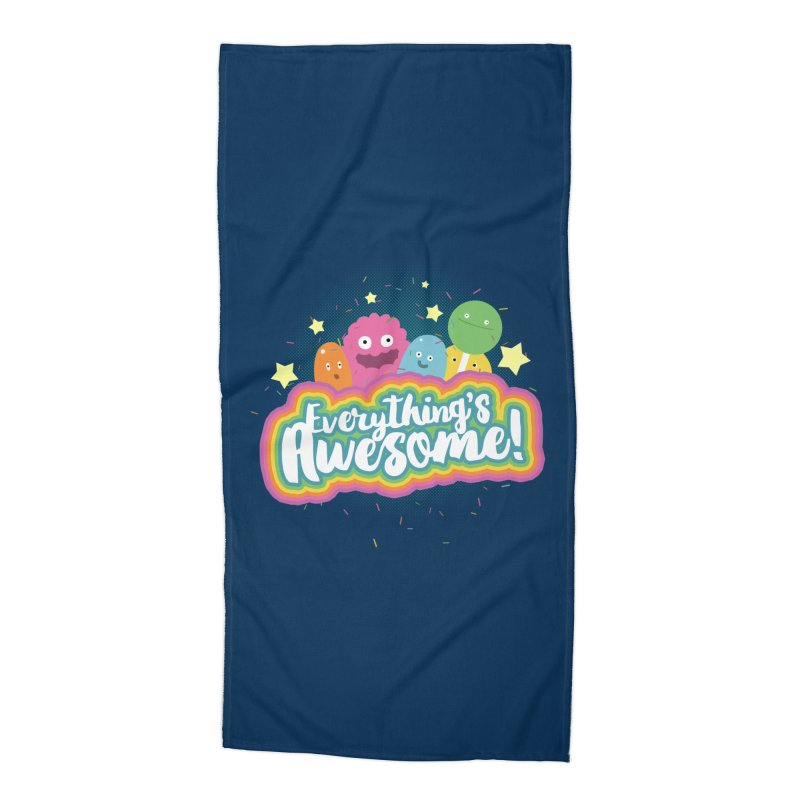 Everything's Awesome! Accessories Beach Towel by jussikarro's Artist Shop