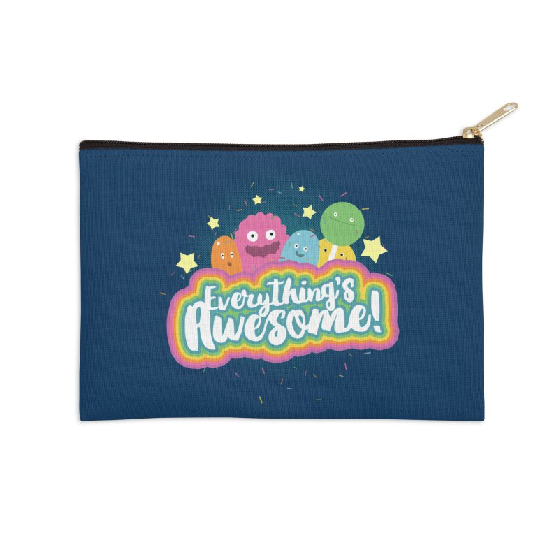 Everything's Awesome! Accessories Zip Pouch by jussikarro's Artist Shop