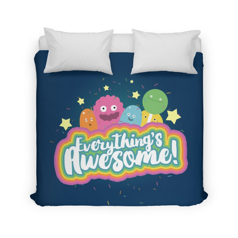 Everything's Awesome! Home Duvet by jussikarro's Artist Shop