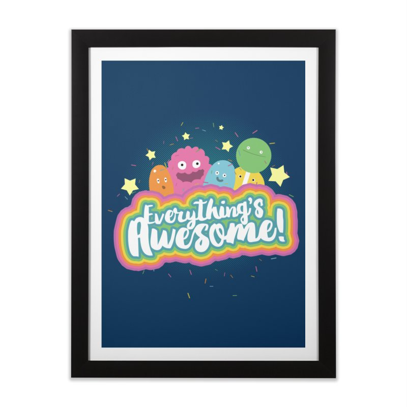 Everything's Awesome! Home Framed Fine Art Print by jussikarro's Artist Shop