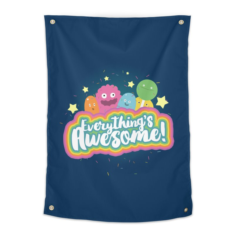 Everything's Awesome! Home Tapestry by jussikarro's Artist Shop