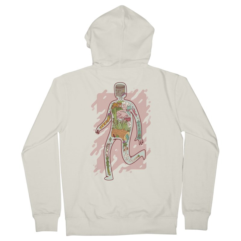 Nature Inside Men's Zip-Up Hoody by justalgo's Artist Shop