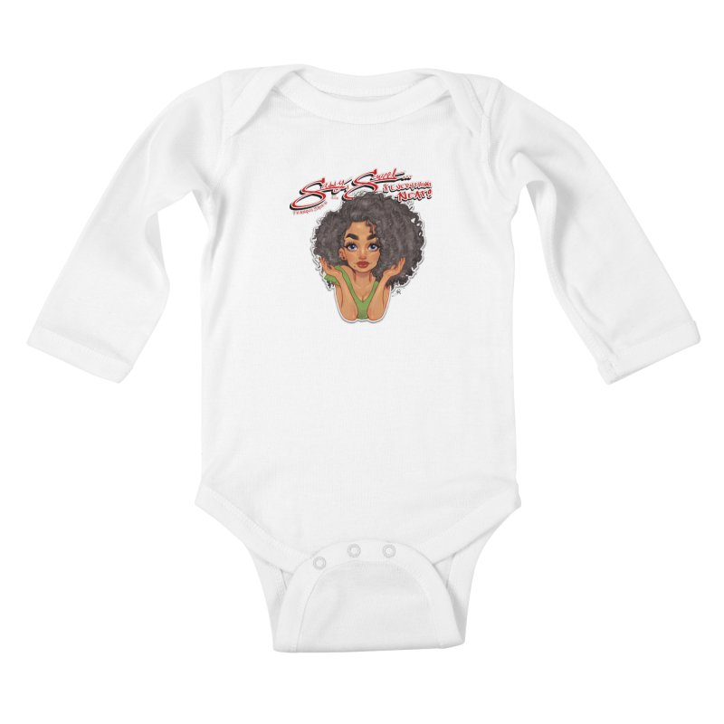 Sassy and Sweet Kids Baby Longsleeve Bodysuit by Justifiable Concepts Apparel and Goods