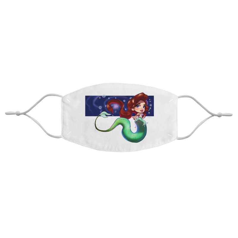 My Heart Is A Part Of Your World Accessories Face Mask by Justifiable Concepts Apparel and Goods
