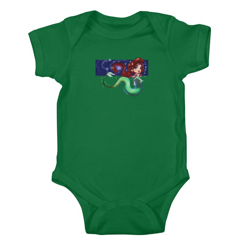 My Heart Is A Part Of Your World Kids Baby Bodysuit by Justifiable Concepts Apparel and Goods
