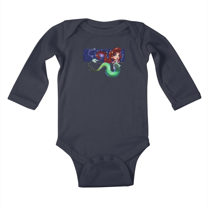 My Heart Is A Part Of Your World Kids Baby Longsleeve Bodysuit by Justifiable Concepts Apparel and Goods