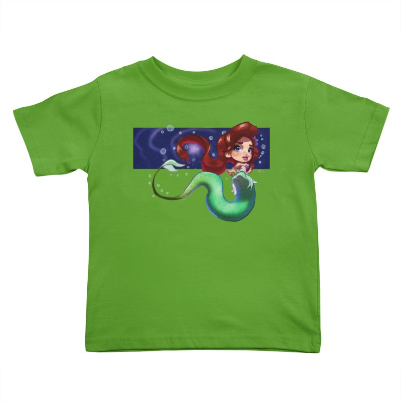My Heart Is A Part Of Your World Kids Toddler T-Shirt by Justifiable Concepts Apparel and Goods