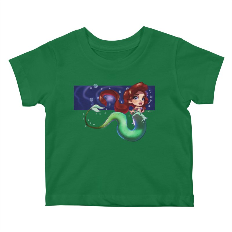 My Heart Is A Part Of Your World Kids Baby T-Shirt by Justifiable Concepts Apparel and Goods