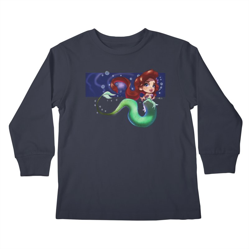 My Heart Is A Part Of Your World Kids Longsleeve T-Shirt by Justifiable Concepts Apparel and Goods