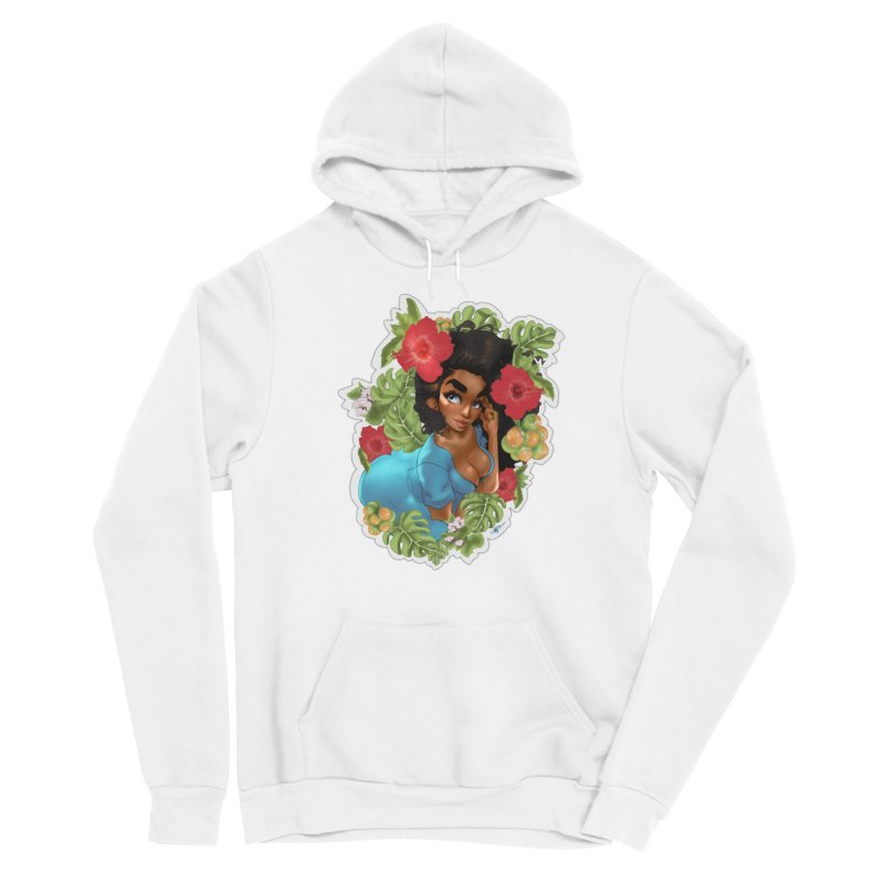 Cutie with the curly hair Women's Pullover Hoody by Justifiable Concepts Apparel and Goods