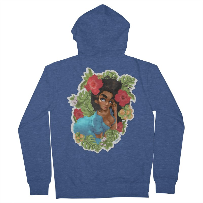 Cutie with the curly hair Men's Zip-Up Hoody by Justifiable Concepts Apparel and Goods