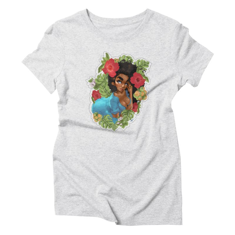 Cutie with the curly hair Women's T-Shirt by Justifiable Concepts Apparel and Goods