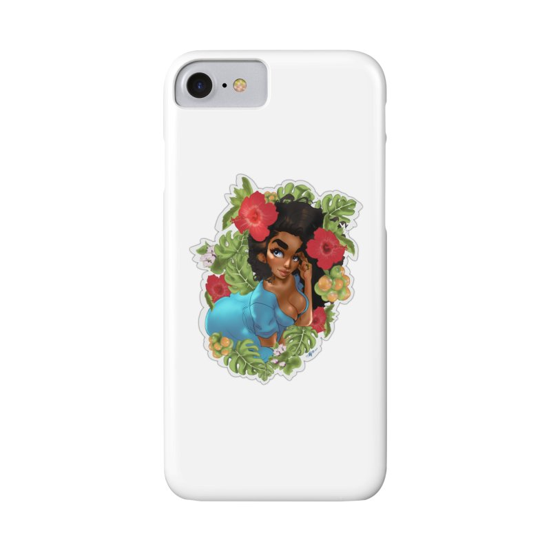 Cutie with the curly hair Accessories Phone Case by Justifiable Concepts Apparel and Goods