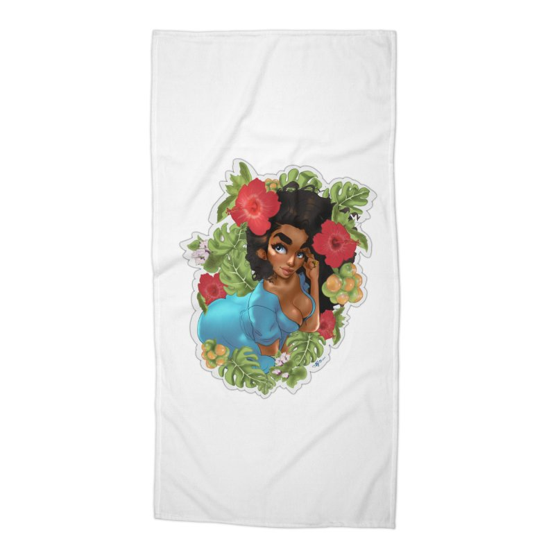 Cutie with the curly hair Accessories Beach Towel by Justifiable Concepts Apparel and Goods