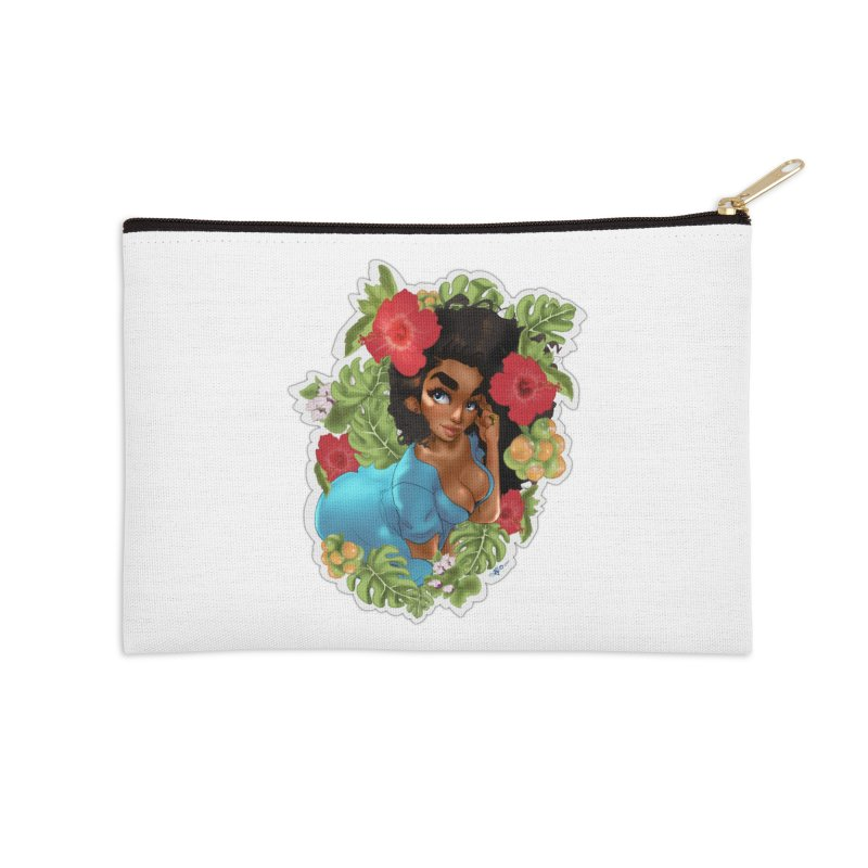Cutie with the curly hair Accessories Zip Pouch by Justifiable Concepts Apparel and Goods