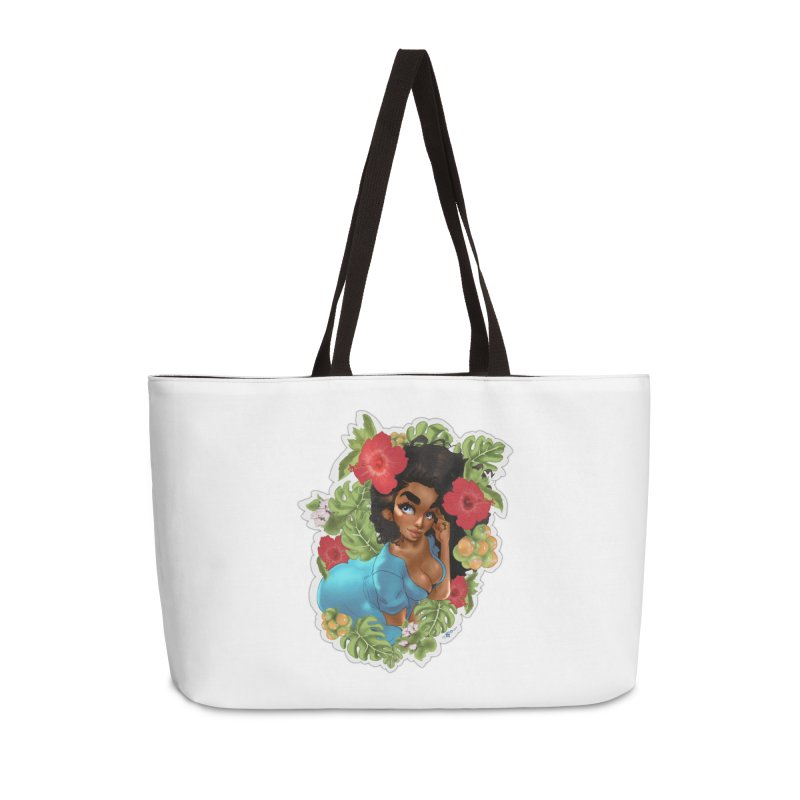 Cutie with the curly hair Accessories Bag by Justifiable Concepts Apparel and Goods