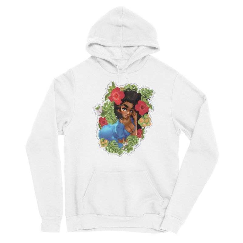 Cutie with the curls - Blue Women's Pullover Hoody by Justifiable Concepts Apparel and Goods