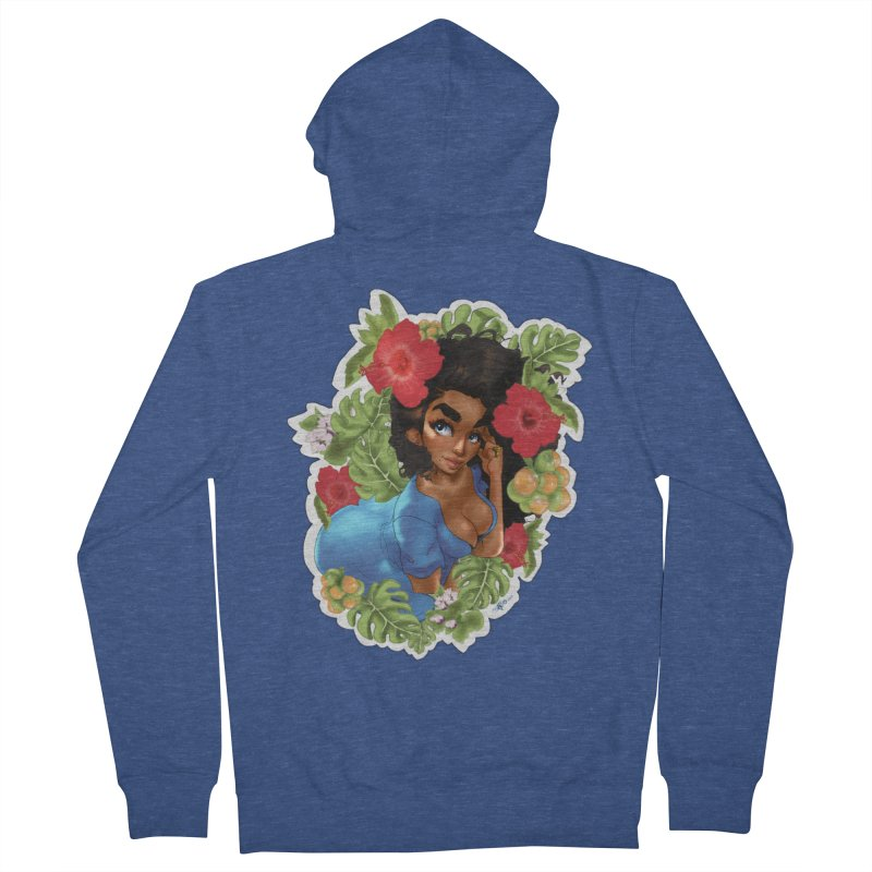 Cutie with the curls - Blue Men's Zip-Up Hoody by Justifiable Concepts Apparel and Goods